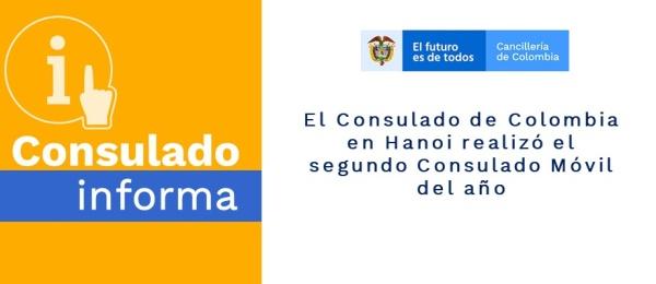 El Consulado de Colombia en Hanoi realizó el segundo Consulado Móvil del año